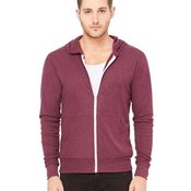 3939  Unisex Triblend Lightweight Hooded Full-Zip Tee
