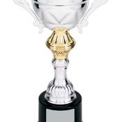 CMC201S Silver Metal Corporate Cup Trophy on a Black Marble Base