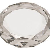 CRY6613  Premier Crystal Round Paperweight
