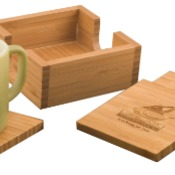 CST01  Bamboo 4-Coaster Set
