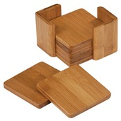 CST11  Bamboo Square Coaster Set