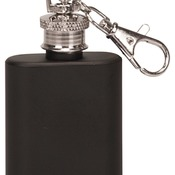 FSK102  1 oz. Matte Black Stainless Steel Flask Keychain