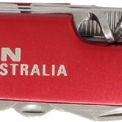 GFT012  Red Finish 8-Function Multi-Tool Pocket Knife