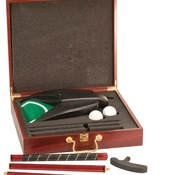 GLF01  Rosewood Finish Executive Gold Gift Set