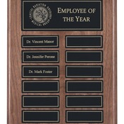 "APT200CBK - 9"" x 12"" Recognition Pocket 12 Plate Perpetual Plaque"