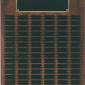 WPP102  Genuine Walnut Step Edge Perpetual Plaque with 102 Plates