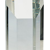 "IR-CRY81   8"" Clear Crystal Octagon Tower"