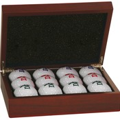 IR-GLF02   Rosewood Finish Golf Ball Box