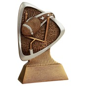 "TRD105 5-1/2"" Triad Resin Football Trophy"