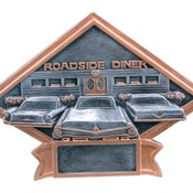 "DPS30 - 8 1/2"" x 6"" Car Show/50s Theme Diamond Plate Resin"