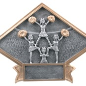 "DPS13  6"" X 4-1/2"" Diamond Plate Resin Large Cheer Trophy"