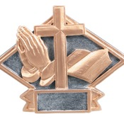 "DPS71  6"" X 4-1/2"" Diamond Plate Resin Small Religious Trophy"
