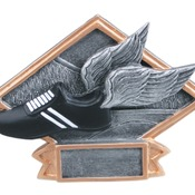 "DPS74  6"" X 4-1/2"" Diamond Plate Resin Small Track Trophy"