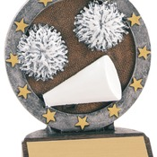 "R618   4-1/2"" All Star Resin Cheer Trophy"