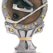 "R657  6-1/4"" All Start Resin Hockey Trophy"