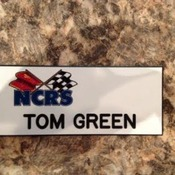 Nametag, imprinted plastic, full color including logo