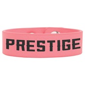 "GFT747-8 1/2"" x 3/4"" Pink Laserable Leatherette Youth Cuff Bracelet"