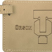 GFT179 Light Brown Leatherette Luggage Tag