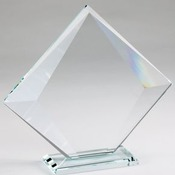 CE1106  Crystal Edge Diamond On Glass Base, Medium