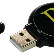 MEM007  4GB Black Plastic USB Flash Drive