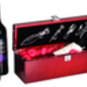 WBX01  Rosewood Piano Finish Single Wine Box with Tools