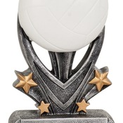 "VSR109   5-1/2"" Varsity Sport Resin Volleyball Trophy"