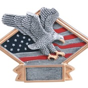"DPS64  6"" X 4-1/2"" Diamond Plate Resin Small Eagle Trophy"