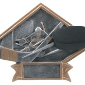 "DPS17   6"" X 4-1/2"" Diamond Plate Resin Large Hockey Trophy"