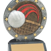 "R608   4-1/2"" All Star Resin Volleyball Trophy"