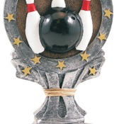 "R661   6-1/4"" All Start Resin Bowling Trophy"