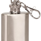 1 oz. Stainless Steel Flask Keychain FSK101