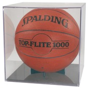 QB4G - Clear Basketball/Soccer BallQube Display Case with Grandstand Holder
