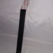 "SIGN STAKE, black anodized aluminum, 1"" x 12"", for mounting small signs and plaques in the ground"