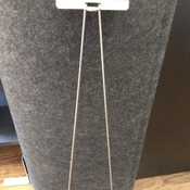 "SIGN STAKE, galvanized steel wire, 24"", for mounting small signs in the ground"